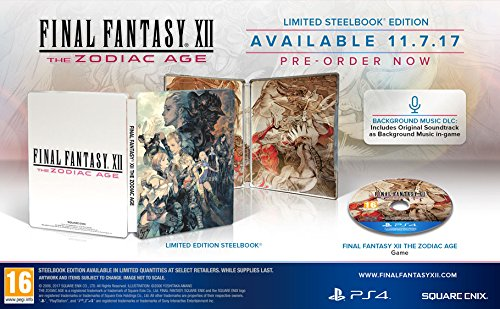 Final Fantasy XII The Zodiac Age Steelbook Edition [PS4]