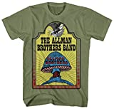FEA Men's Allman Brothers Band Hell Yeah T-Shirt, Army Green, Large