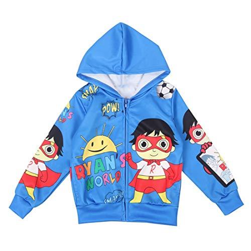 Thombase Ryan's World YouTube-merchandise, speelgoed, kinderen, vest met capuchon, cartoons, bovenkleding