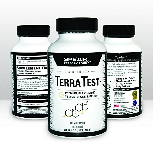 TerraTest - Premium, Powerful, NATURAL Testosterone Booster- Boost Stamina, Increase Strength & Build Muscle | Enhance Libido and Promote Energy & Vitality | Speed Fat Loss & Increase Endurance|