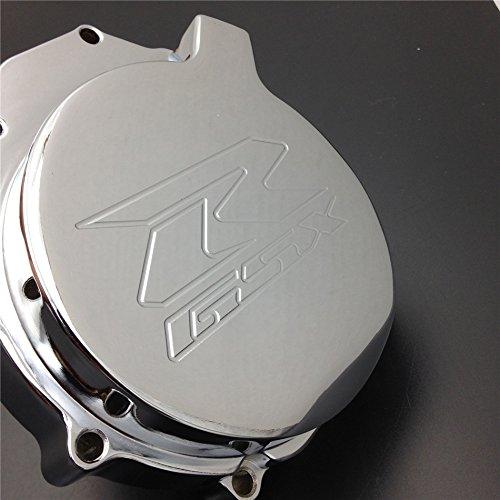 HTT- Billet Aluminum Engine Stator Cover Custom Made For 2004-2005 Suzuki GSXR 600 750 / 2003-2004 Suzuki GSXR1000 Chrome Left