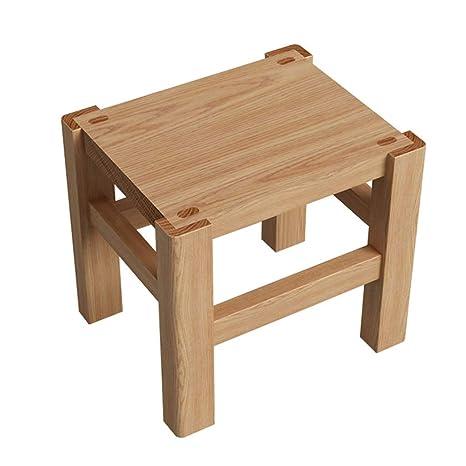 Amazon.com: Taburetes de madera de roble blanco, banco de ...