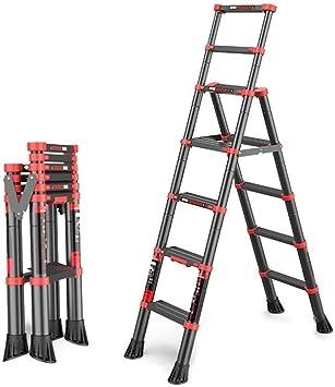 ZGQA de tijera Escalera, Ascensor Inicio telescópica plegable espiga de escalera, escalera portátil de interior y exterior, capacidad de carga de 150 kg / 330 lbs (Color: escalera de cinco pasos): Amazon.es:
