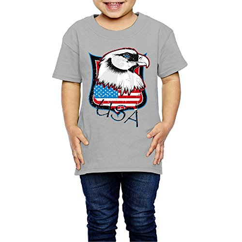 Price comparison product image Eagle USA Flag Design Cute Kid Children Short Sleeve Round Neck T Shirts Tshirts For Outdoor Amusement Park