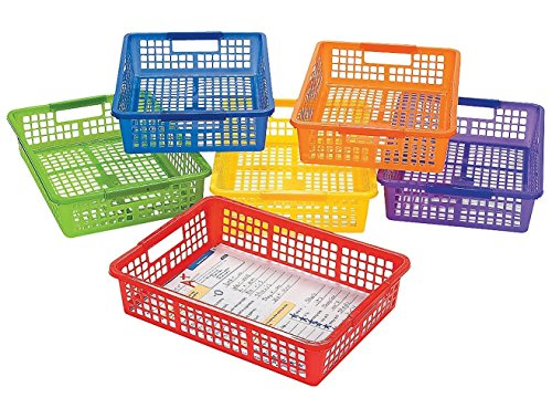 6 Pack Classroom Storage Baskets With Handles, 14