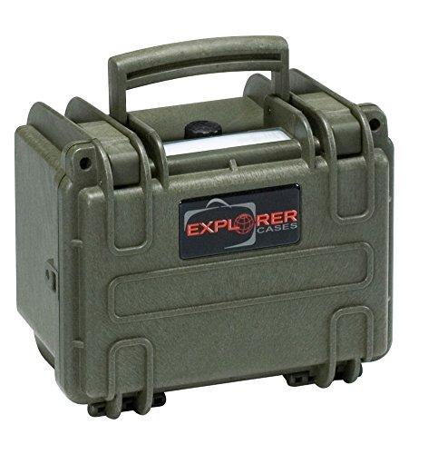 Explorer Cases 1913 GE Waterproof Dustproof Multi-Purpose Protective Case Empty, Military Green by Explorer Cases
