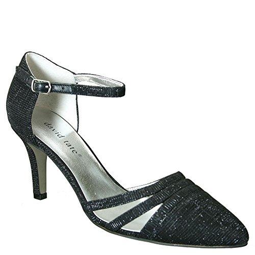 David Tate Women's Ava Fashion Heels, Black Leather, 7 WW