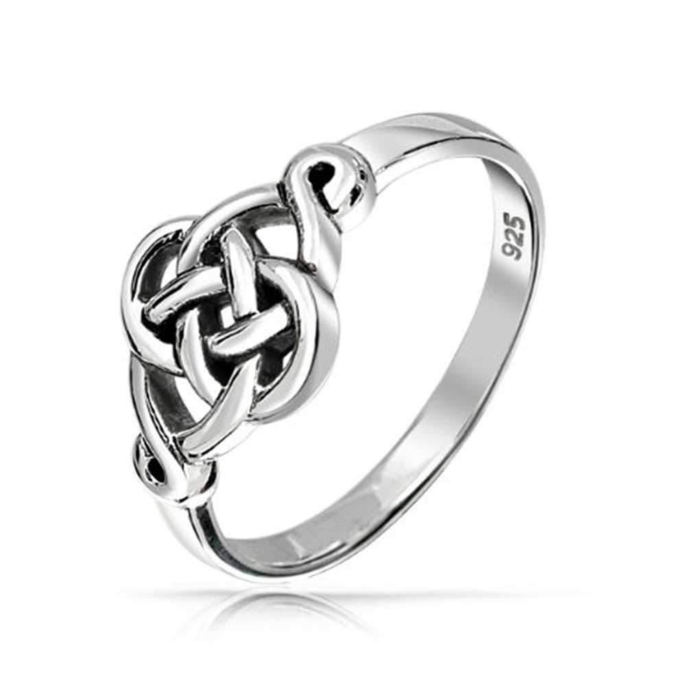 Irish Cut Out Celtic Love Knot Sterling Silver Ring