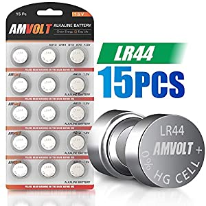15 Pack LR44 AG13 A76 Battery – [Ultra Power] Premium Alkaline 1.5 Volt Non Rechargeable Round Button Cell Batteries for Watches Clocks Remotes Games Controllers Toys & Electronic Devices (15 Pack)