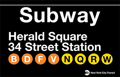 Herald Square Metal Subway - Herald 34 Square