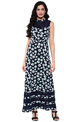 Side Slit Georgette (Maxi dress in multi color print with side slits)