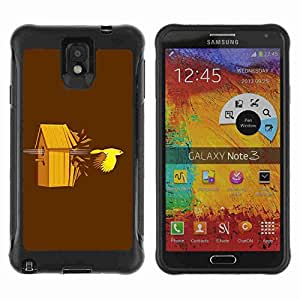 A-type Arte & diseño Anti-Slip Shockproof TPU Fundas Cover Cubre Case para Samsung Galaxy Note 3 III / N9000 / N9005 ( Funny Bird Illustration )