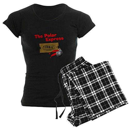 CafePress The Polar Express Ticket - Womens Novelty Cotton Pajama Set, Comfortable PJ Sleepwear