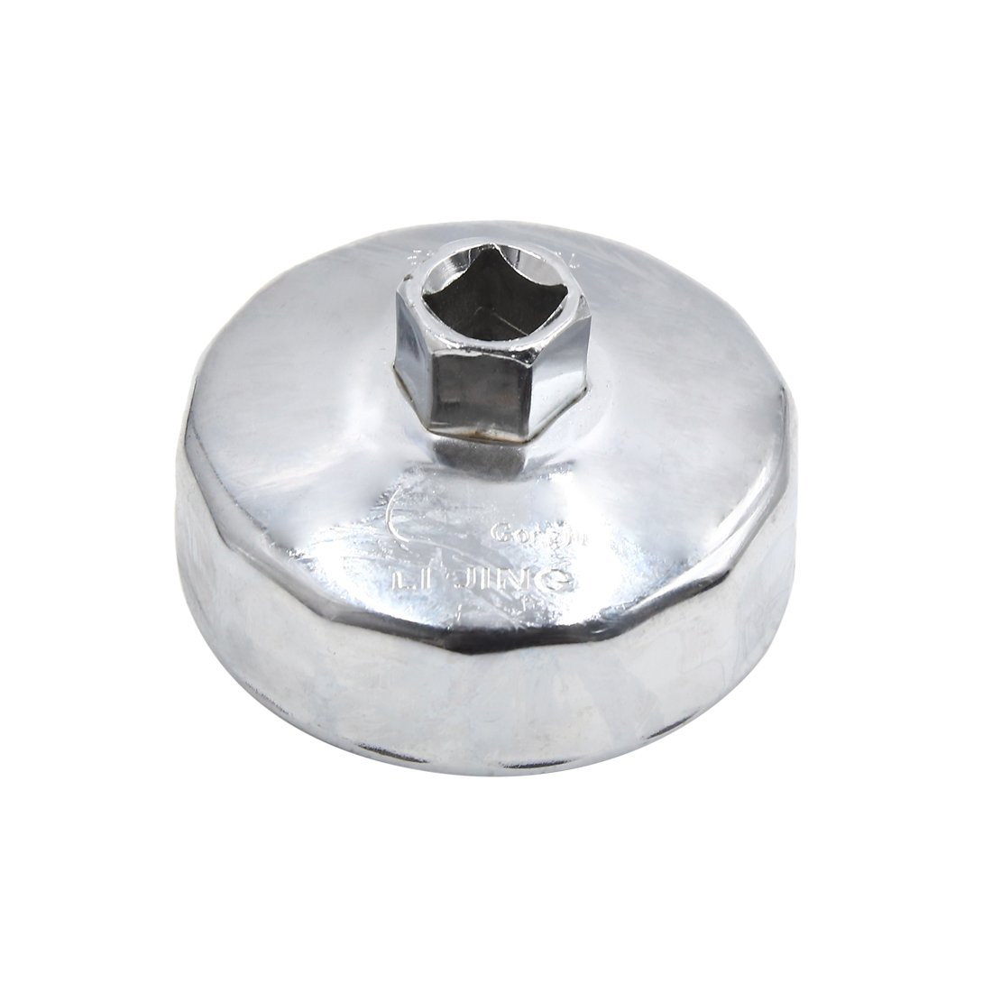 uxcell Steel 76mm 14 Flutes Car Oil Filter Cap Wrench Socket Housing Remover Tool