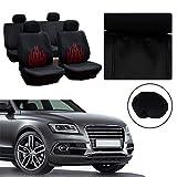 cciyu Universal Car Seat Cover w/Headrest Covers