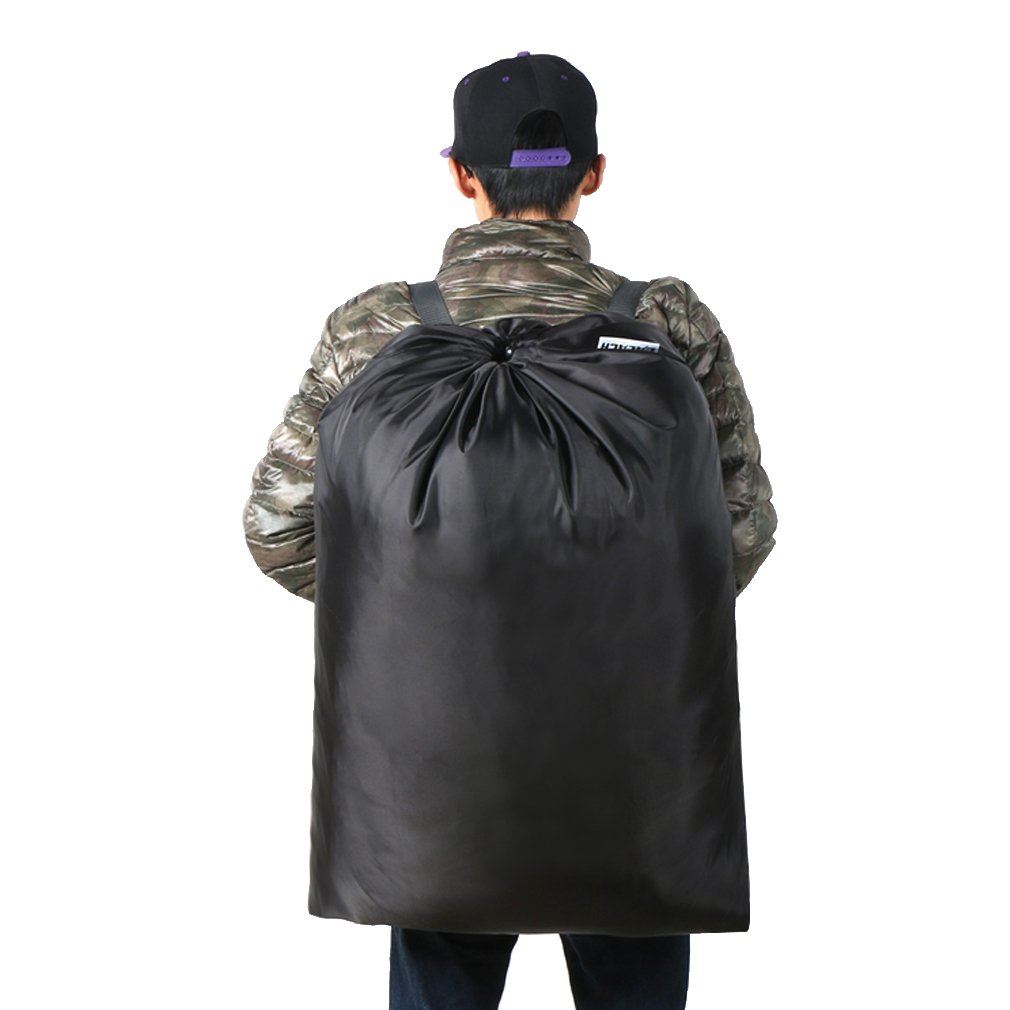 Extra Large Laundry Bag [26''x34''] Sturdy rip and tear resistant polyester material with drawstring closure. Ideal machine washable laundry bags for college, dorm and apartment dwellers-black by HOLYLUCK (Image #2)