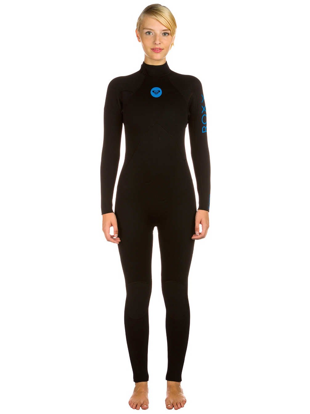 Roxy Womens Syncro Base 32 Flatlock Back Zip Wetsuit 6 ブラック B013RARLVK
