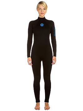 Roxy Syncro Base 3/2mm - Traje de surf para mujer, Color: BLACK