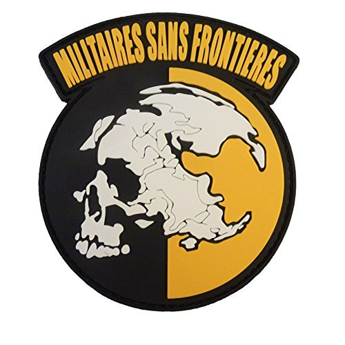 Militaires Sans Frontieres Metal Gear Solid Peace Walker PVC Rubber 3D Touch Fastener -
