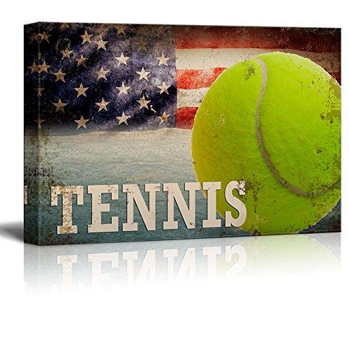 Tennis Americana Patriotic Tennis Sport Grunge Flag