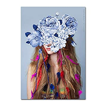 Amazon Com Nordic Decoration Home Posters Indian Feather Girls