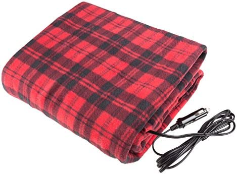 Stalwart 75-BP800 Red/Black Electric Blanket for Automobile