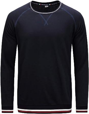 Camiseta para Hombre, Algodón para hombres Espesar Cuello redondo Casual Slim Fit Camiseta de manga larga Camiseta deportiva Camisetas deportivas Casual Wear Regular Fit (Color : Azul , tamaño : XL) : Amazon.es: Hogar
