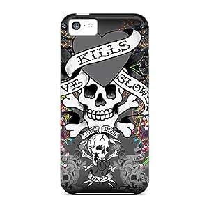 Premium Durable Ed Hardy 6 Fashion Tpu Iphone 5c Protective Case Cover