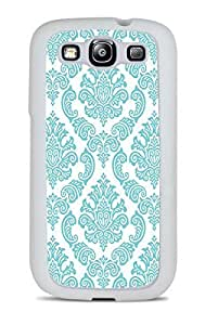 DamaskTeal White Silicone Case for Samsung Galaxy S3