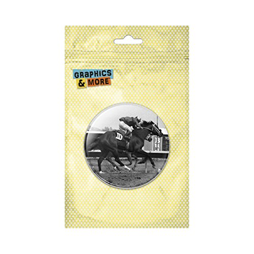Vintage Pinback Button - At the Track Horse Racing Vintage Pinback Button Pin Badge - 1 Inch Diameter