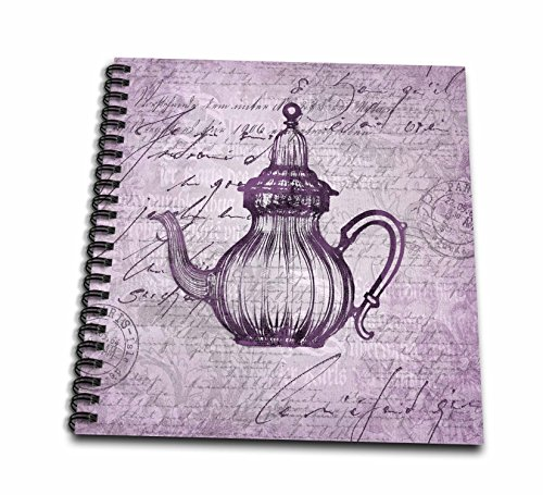 Carafe Art (3dRose Andrea Haase Art Illustration - Nostalgic Carafe Illustration In Pastel Faded Purple - Memory Book 12 x 12 inch (db_276288_2))