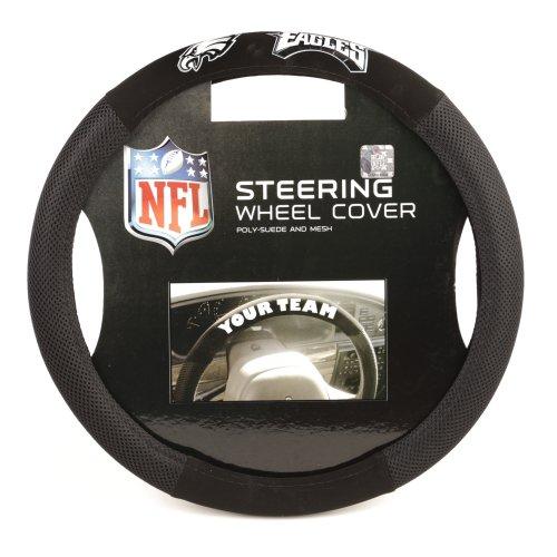 Fremont Die NFL Philadelphia Eagles Poly-Suede Steering Wheel Cover ()