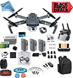 DJI Mavic Pro Drone Quadcopter Fly More Combo with 3 Batteries, 4K Professional Camera Gimbal Bundle Kit, 64GB SD Card, Range Extender,Landing Pad, Must Have Accessories with DigitalAndMore Backpack