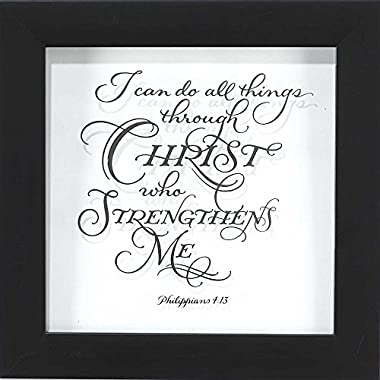 Framed Verse on Glass - I Can Do All Things