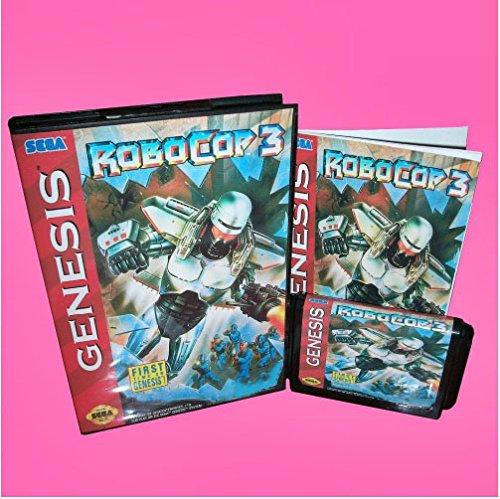 Taka Co 16 Bit Sega MD Game Robocop 3 With Box And Manual 16bit MD Game Card For Sega Mega Drive For Genesis