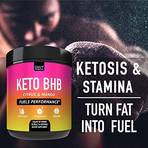 Keto BHB Citrus and Mango Powder - Fuels Performance -Exogenous Ketones (BHB) - Supports Ketosis, Metabolism, Improved Energy, and Mental Performance - 16 Servings 5