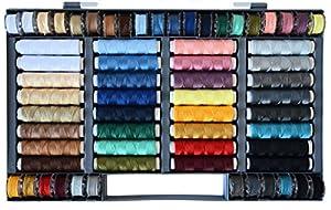 Nähgarn-Sortiment-Set 64-teilig Syngarn 100% Polyester Nähmaschinengarn