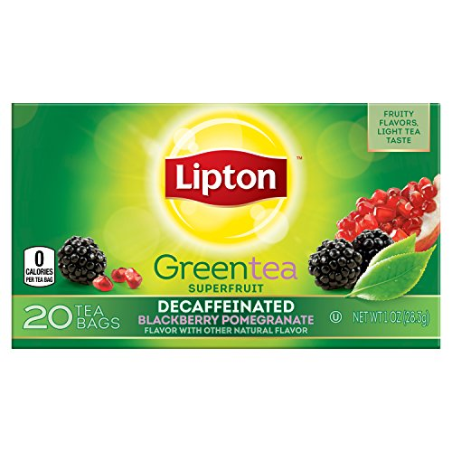 Lipton Decaffeinated Blackberry Pomegranate Packaging