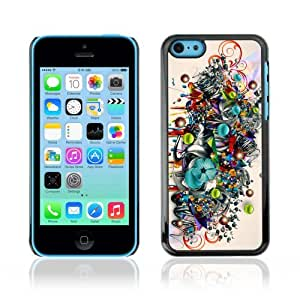 Designer Depo Hard Protection Case for Apple iPhone 5C / Colorful Art Pattern