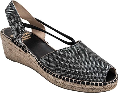 Andre Assous Women's Dainty-A Espadrille Sandal,Pewter Metallic Fabric,US 11 M by André Assous