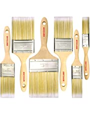 6 Piece Professional SRT (4inch3inch2inch1inch1.5inch2.5inch) Painter and Home Owners Painting Brushes for Cabinet Decks Fences Interior Exterior & Commercial Paint Brush