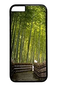 Bamboo forest Custom iphone 6 plus 5.5 inch Case Cover Polycarbonate Black