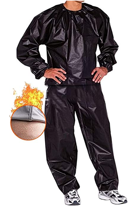 CRXL shop-Electric Blankets Fitness sweat suit gym PVC weight loss tearproof full body suit sauna suit for men and women Color : Black, Size : S
