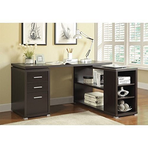 Advantage Beech Workstation (ioneyes 800517 home furnishings office desk, cappuccino )