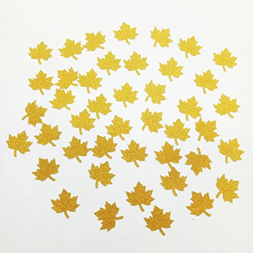 Invitations Maple Leaf Wedding (Paity Gold Maple leaves Confetti for Wedding, Birthday Party, Baby Showers, Festival Items & Princess Party Supplies, Gold Glitter Paper Confetti - DIY Kits, 100 pcs of 1