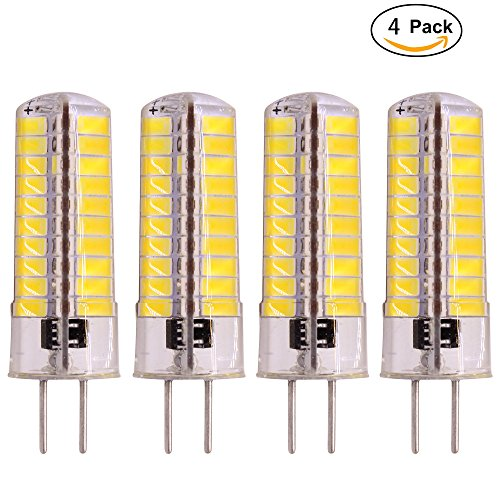 G6.35 Led Bulbs 110V 120V 80-5730SMD 4W, 40W Equivalent, Bi-Pin Tower Lamp, Warm White 3000K,Crystal Lamp Weixuan Pack of 4 ()