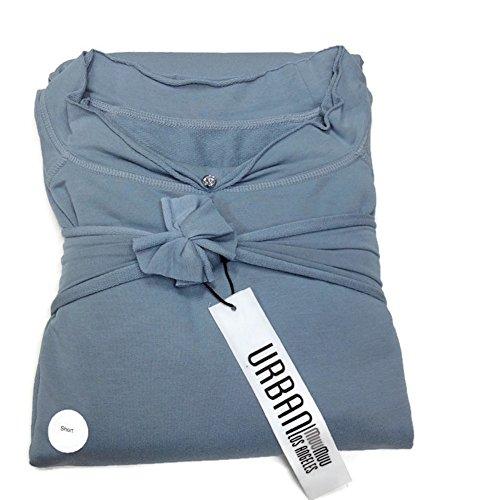 Urban MuuMuu Knee Length Lounge Tunic W/ Inset Pockets & Headband - Morning Blue