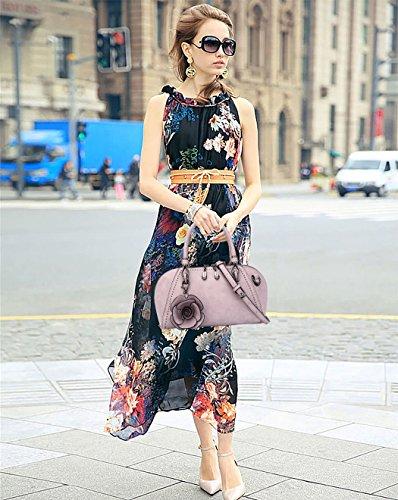 DEERWORD V2 menotte portés à main Sacs Sacs à Cuir épaule Sacs portés Femme bandoulière Noir Noir main Sac Cartable Sacs Faux pqwHpnPrS