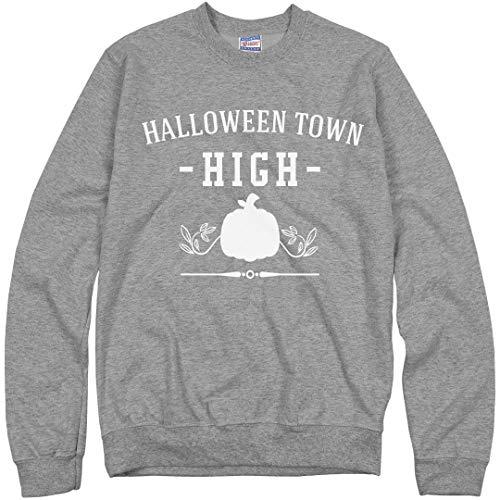 Customized Girl Halloween Town High Sweater: Unisex Ultimate Crewneck Sweatshirt Heather Grey ()