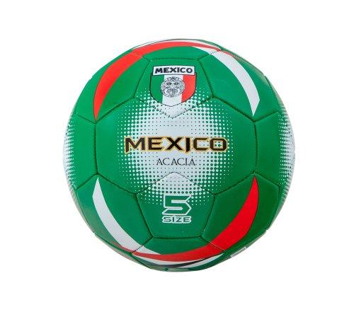 Acacia Mexico World Soccer Ball, Green/Red/White, Size 5
